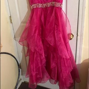 Other - Hot pink girls prom dress